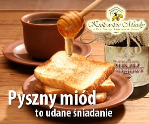 Pyszny miód to udane śniadanie - duży szeroki
